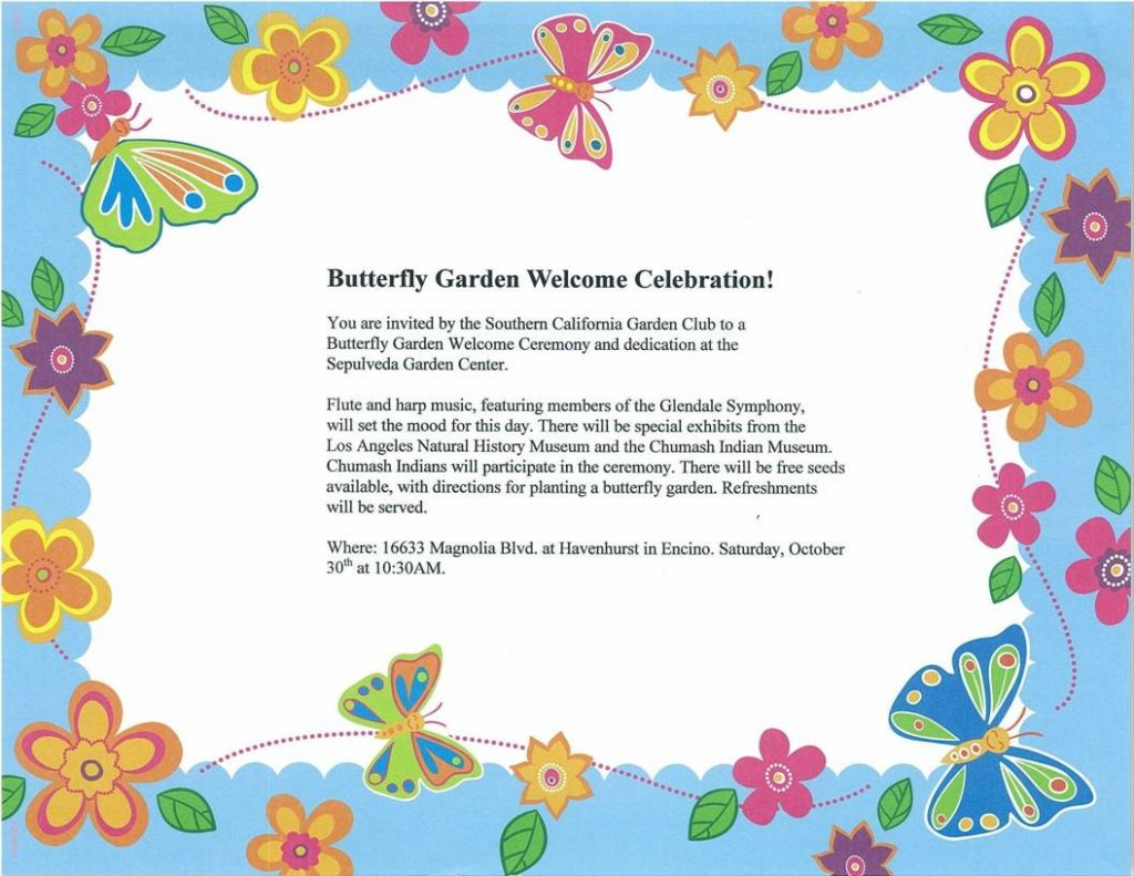 Butterfly Garden Dedication